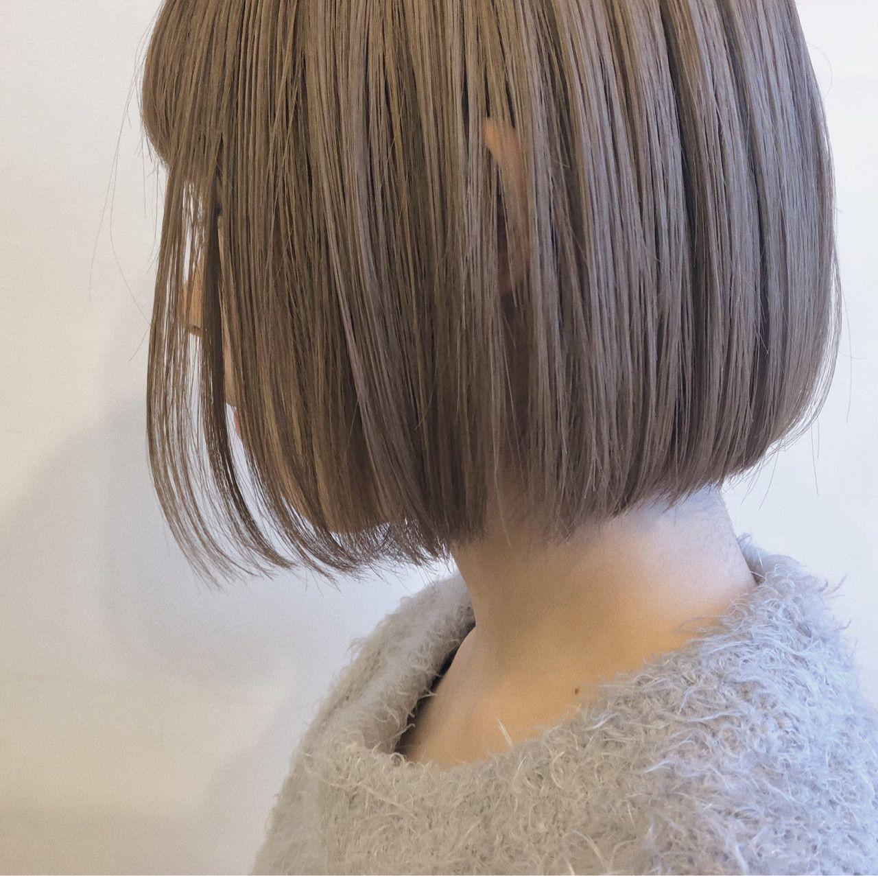 シアカラー ミルクティーベージュ オイルのみのスタイリング 髪色 ベージュ ヘアスタイリング 髪 色