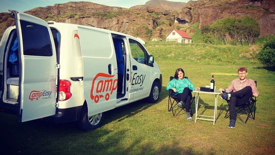 Easy Small Image By Campeasy Iceland Camping Resort Cheap Campers Camper Rental