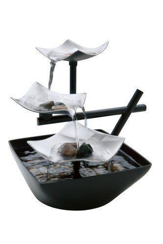 TableTop Indoor Zen Garden Waterfall Water Fountain Home Decor Modern  Relaxation