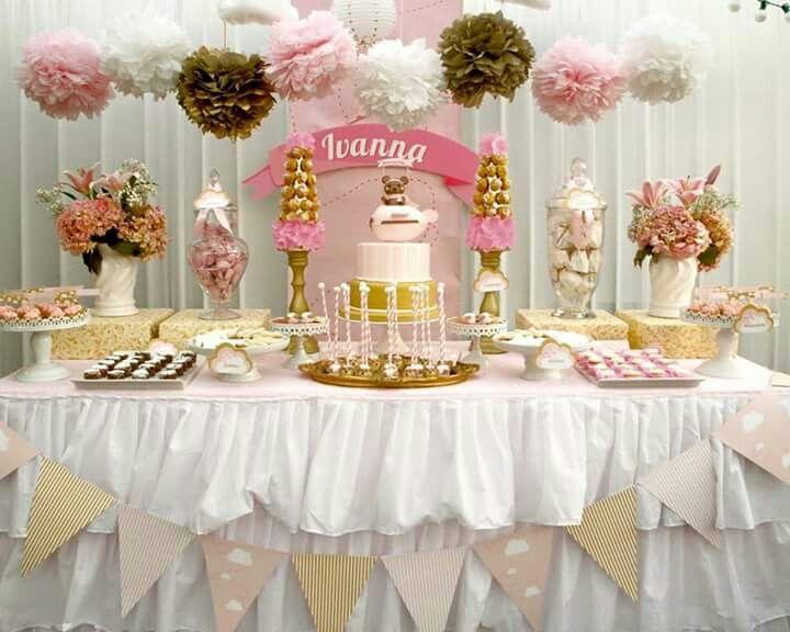 Pin de miranda light en banquet pinterest bautizo - Decoracion fiesta rosa ...