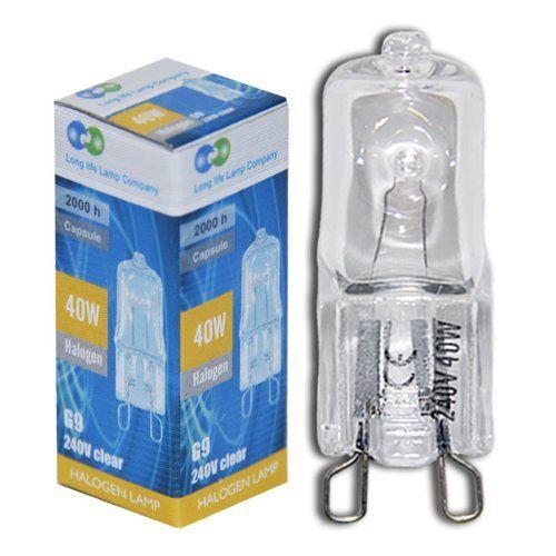 Long Life Lamp Company G940wc10p Bombilla De Capsula Halogena De Bajo Consumo Casquillo G9 40 W 240 V 10 Unidades Amazon Es Bombillas Cascadas Lamparas