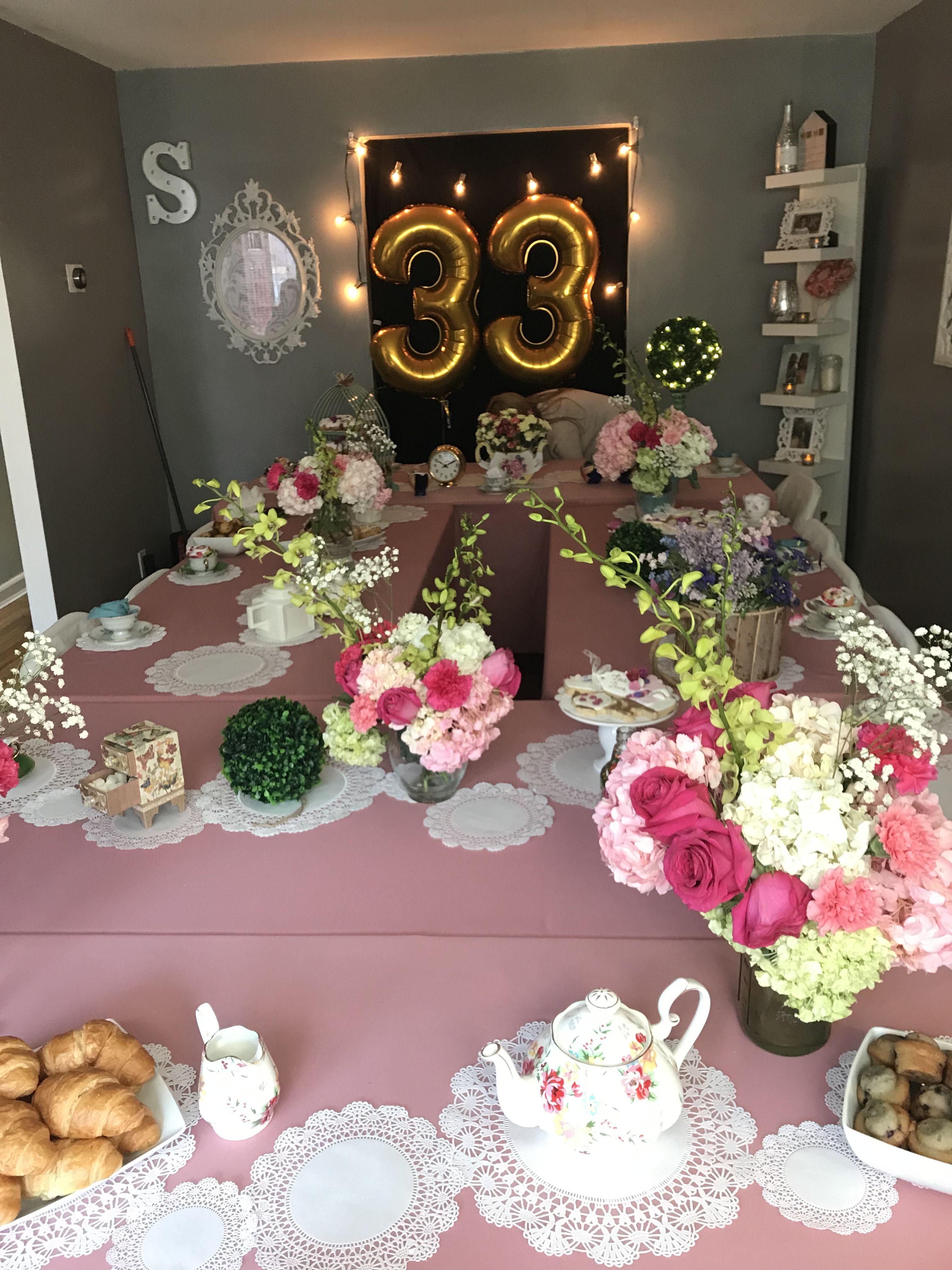 Thir Tea Third Birthday Indoor Tea Party Decor Tea Party
