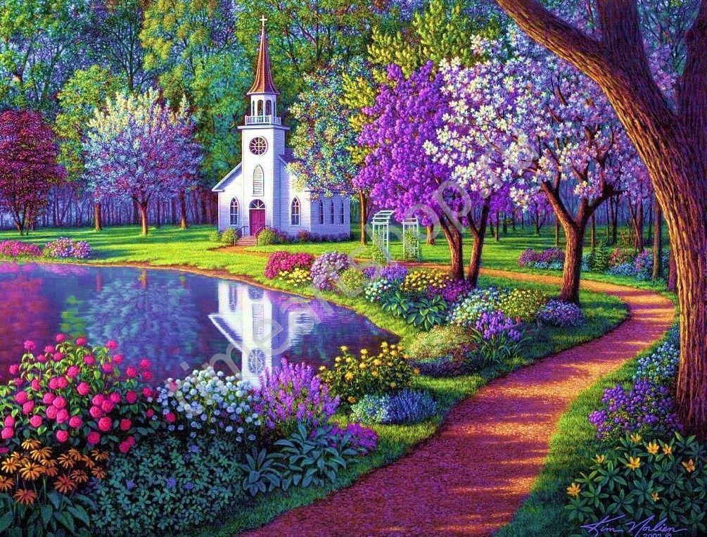 Цветущий сад открытка