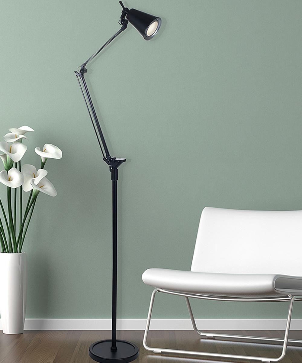 Black LED Adjustable Floor Lamp Home Decor zulilyfinds