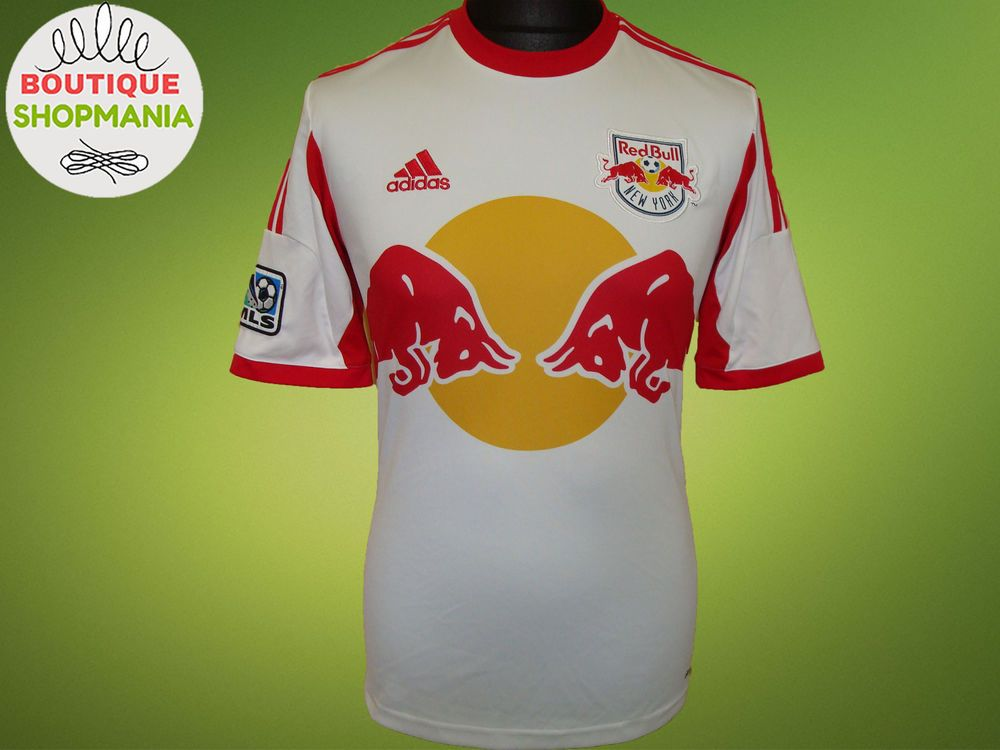 NY RED BULLS HOME 2013-2014 MLS (S) ADIDAS FOOTBALL SHIRT So