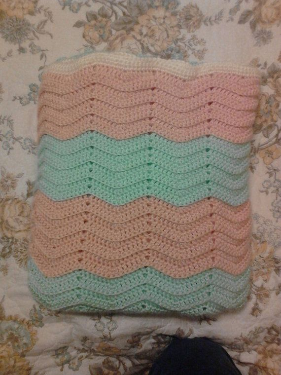 Hey, I found this really awesome Etsy listing at https://www.etsy.com/listing/157228902/peach-mint-throw-blanket