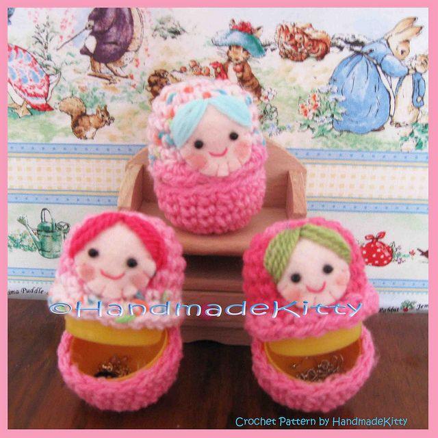 Matryoshka Russian Doll Cases Crochet Pattern by HandmadeKitty by HandmadeKitty=^_^=, via Flickr