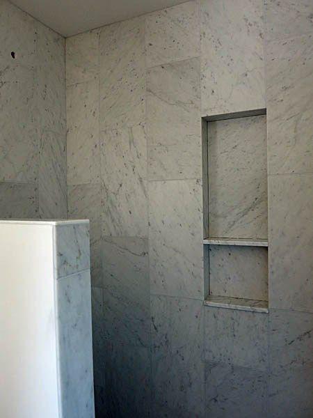 Niche In Shower With Stone Sill Shelf Bathroom Shelf Decor