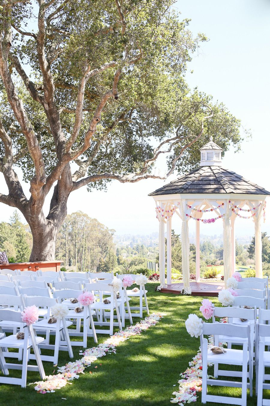 Wedding decorations for house  Santa Cruz Wedding at Hollins House  California wedding Santa cruz