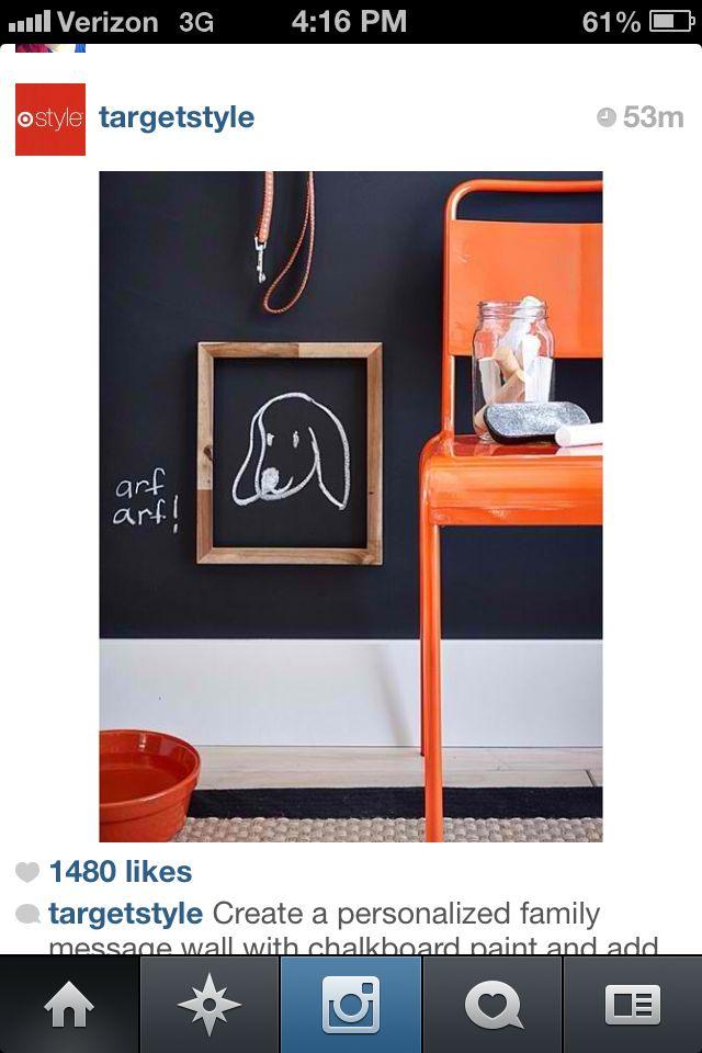 Chalkboard wall + frame