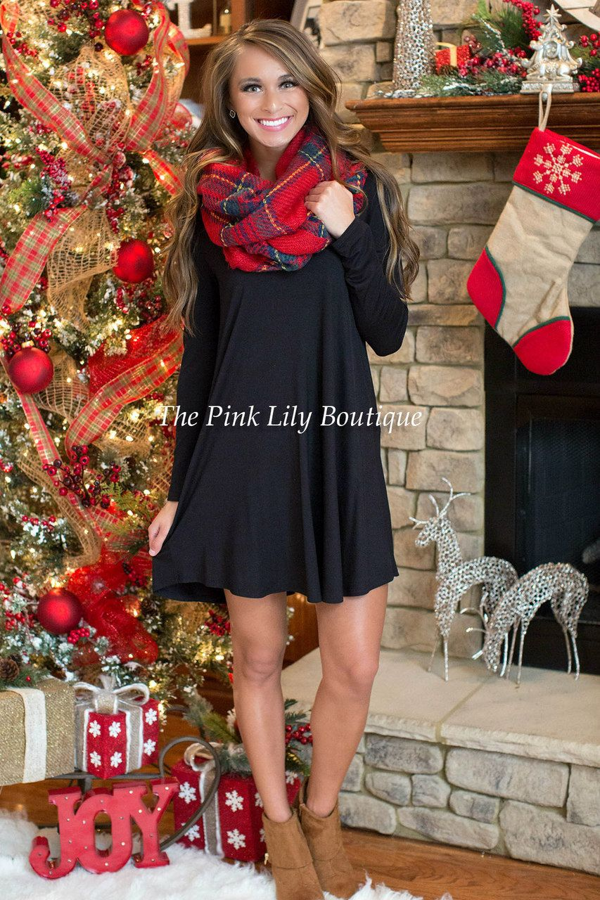 The Simple Things Black Dress The Pink Lily Boutique