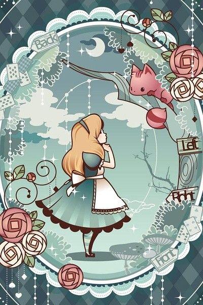 Alice in Wonderland (Alice no País das Maravilhas) #ilustração #illustration