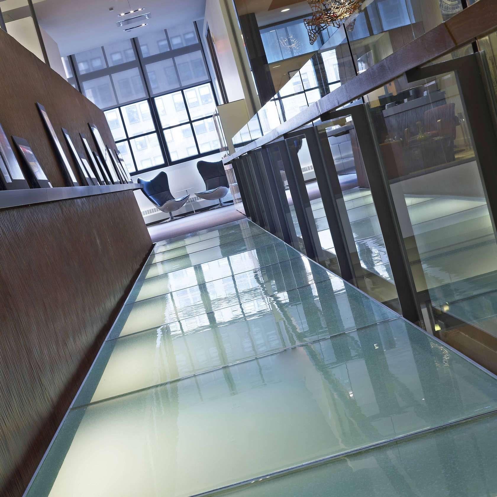 Glass Stairs, Treads, Flooring (Kiln Cast Glass)