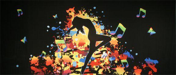 Dancer Silhouette Backdrop