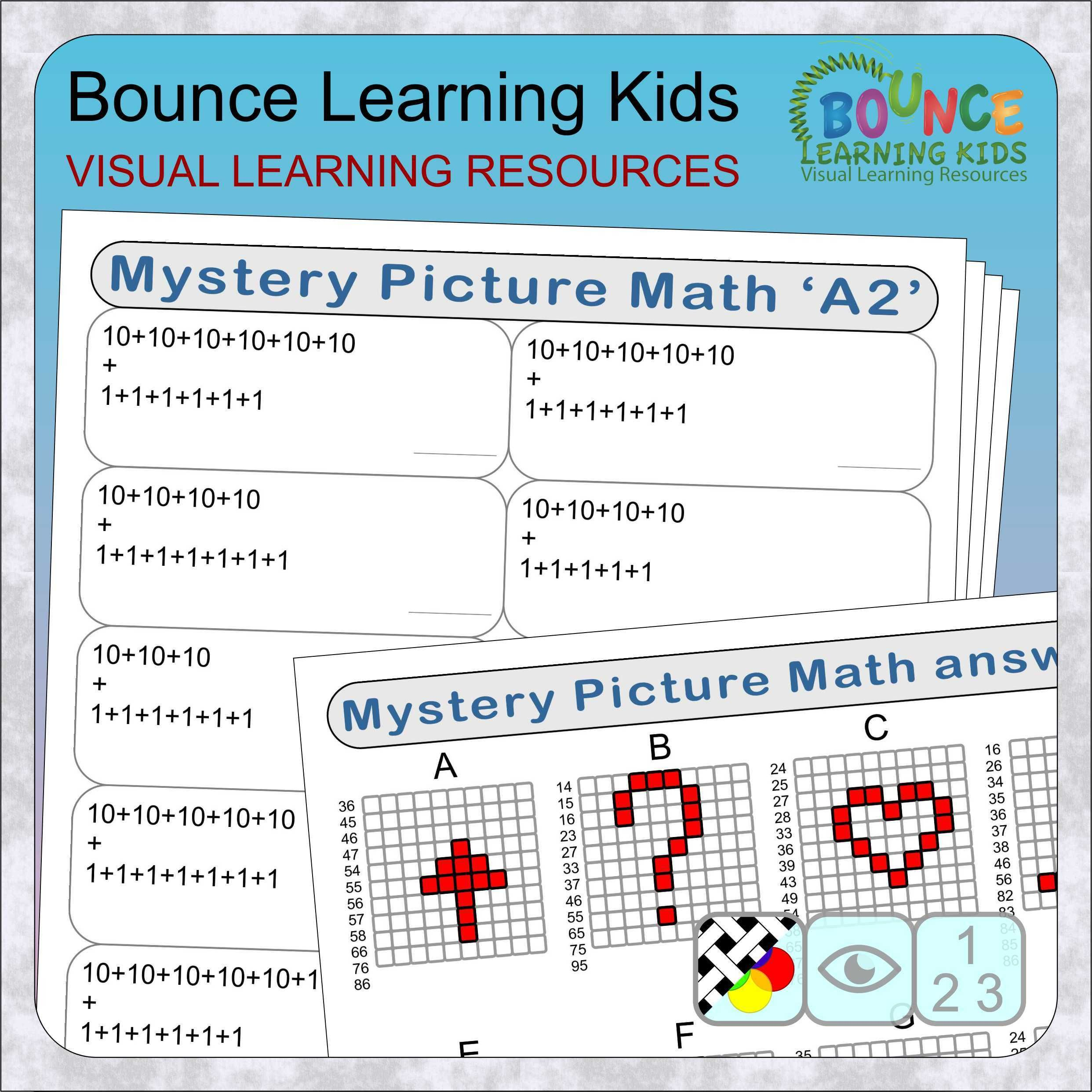 Mystery Picture Math Distance Learning Numeracy Sheets