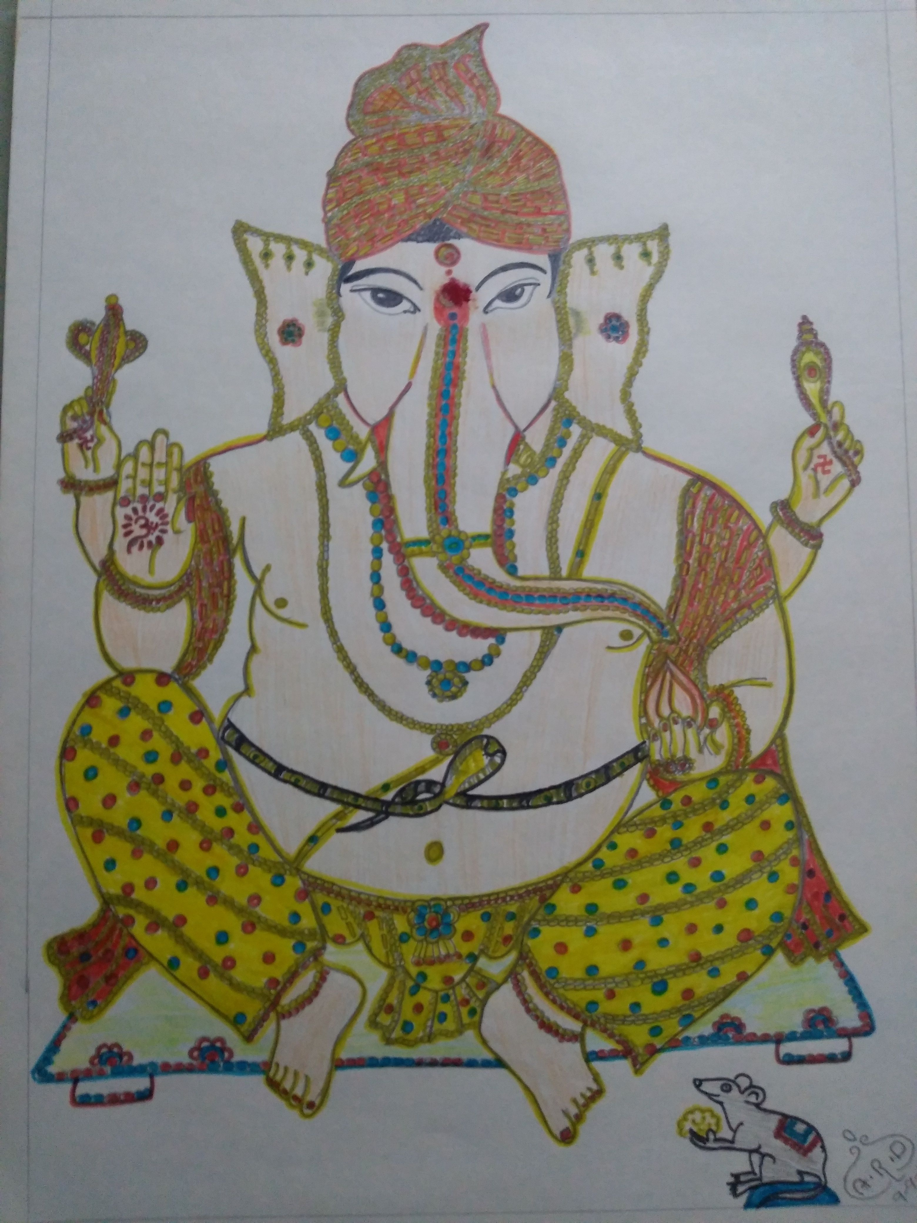 Lord Ganesh - pencil drawing (With images) | Pencil ...