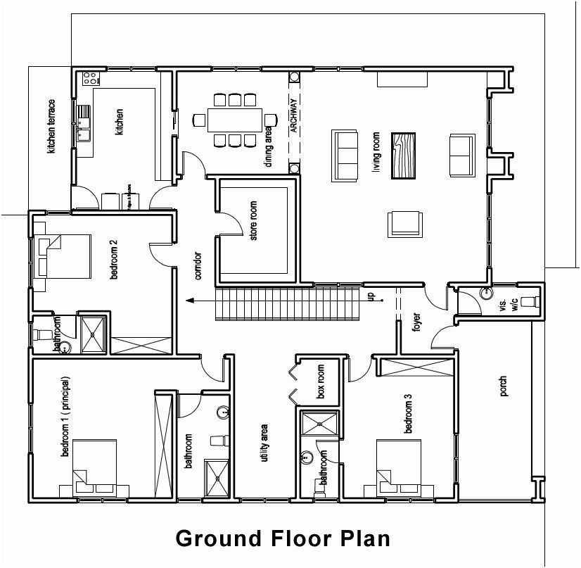 Ghana House Plans In 2020 Bungalow Floor Plans Bungalow House Plans House Plans With Photos