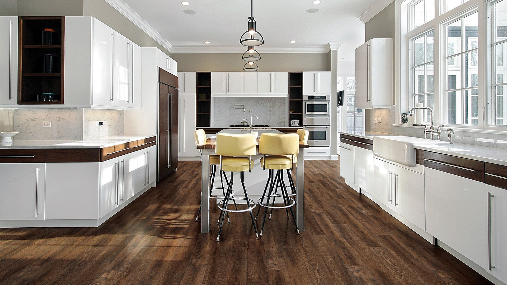 vinyl flooring trends 4 hot vinyl flooring ideas 2018 white modern kitchen luxury kitchen on kitchen remodel vinyl flooring id=19369