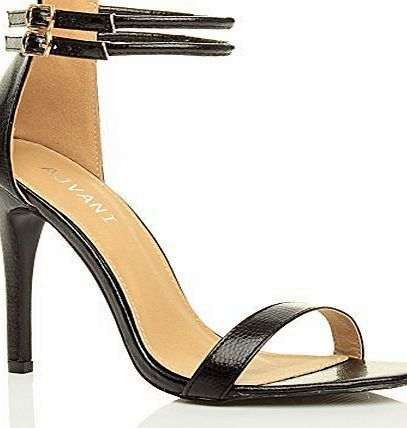 Ajvani WOMENS LADIES HIGH HEEL BARELY THERE ANKLE STRAPPY BUCKLE PARTY SANDALS 5 38 • Choice Of Colours As Shown Above</br>• Synthetic Upper</br>• Synthetic Insole</br>• Synthetic Sole</br>• (Barcode EAN = 5055808254105) http://www.comparestoreprices.co.uk/shoes/ajvani-womens-ladies-high-heel-barely-there-ankle-strappy-buckle-party-sandals-5-38.asp
