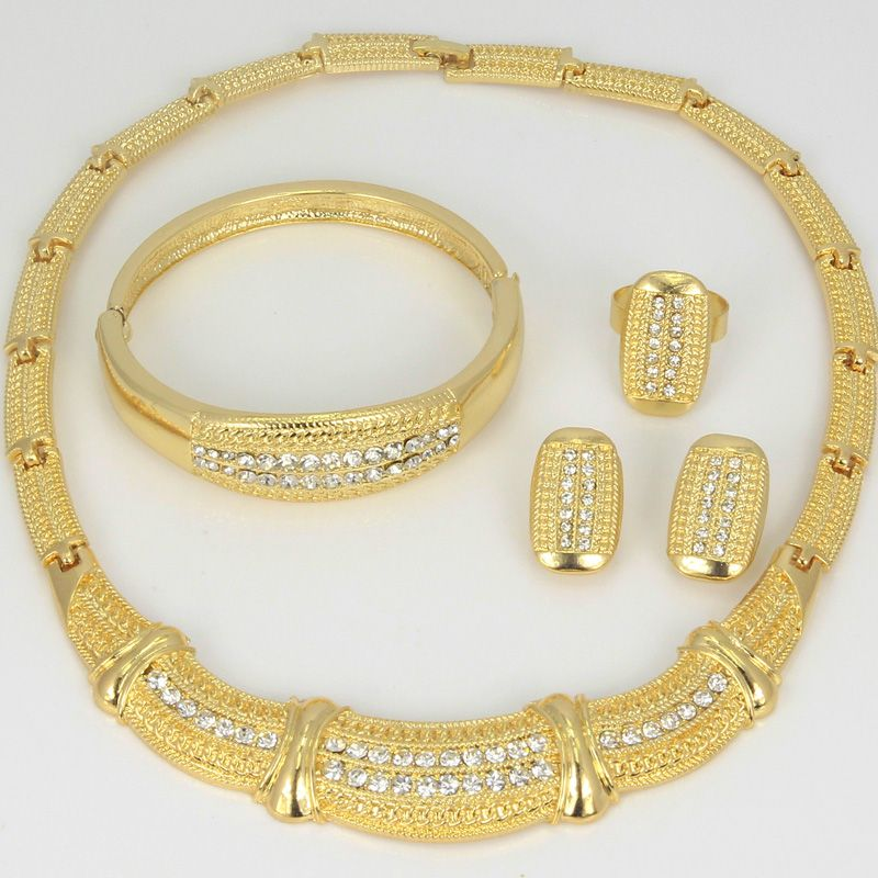 Find More Jewelry Sets Information about Women 18k Gold Plated