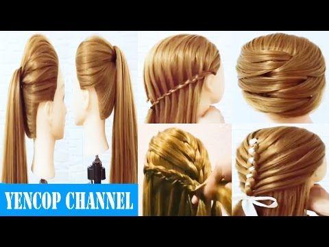 5 videos de peinados faciles y rapidos \ trenzas faciles y bonitas