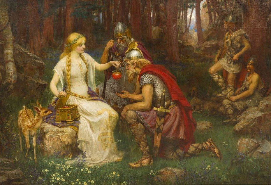 Image of Idun Norse goddess Norse mythology