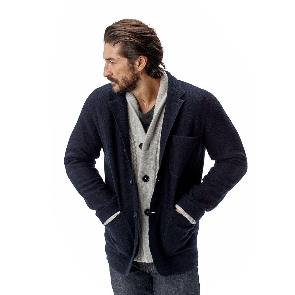 80cfb582c Navy Felted Chore Coat | Fashion- Men's | Jeans fabric, Coat ...