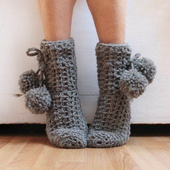 How to make simple crochet socks! You will learn to make simple ...