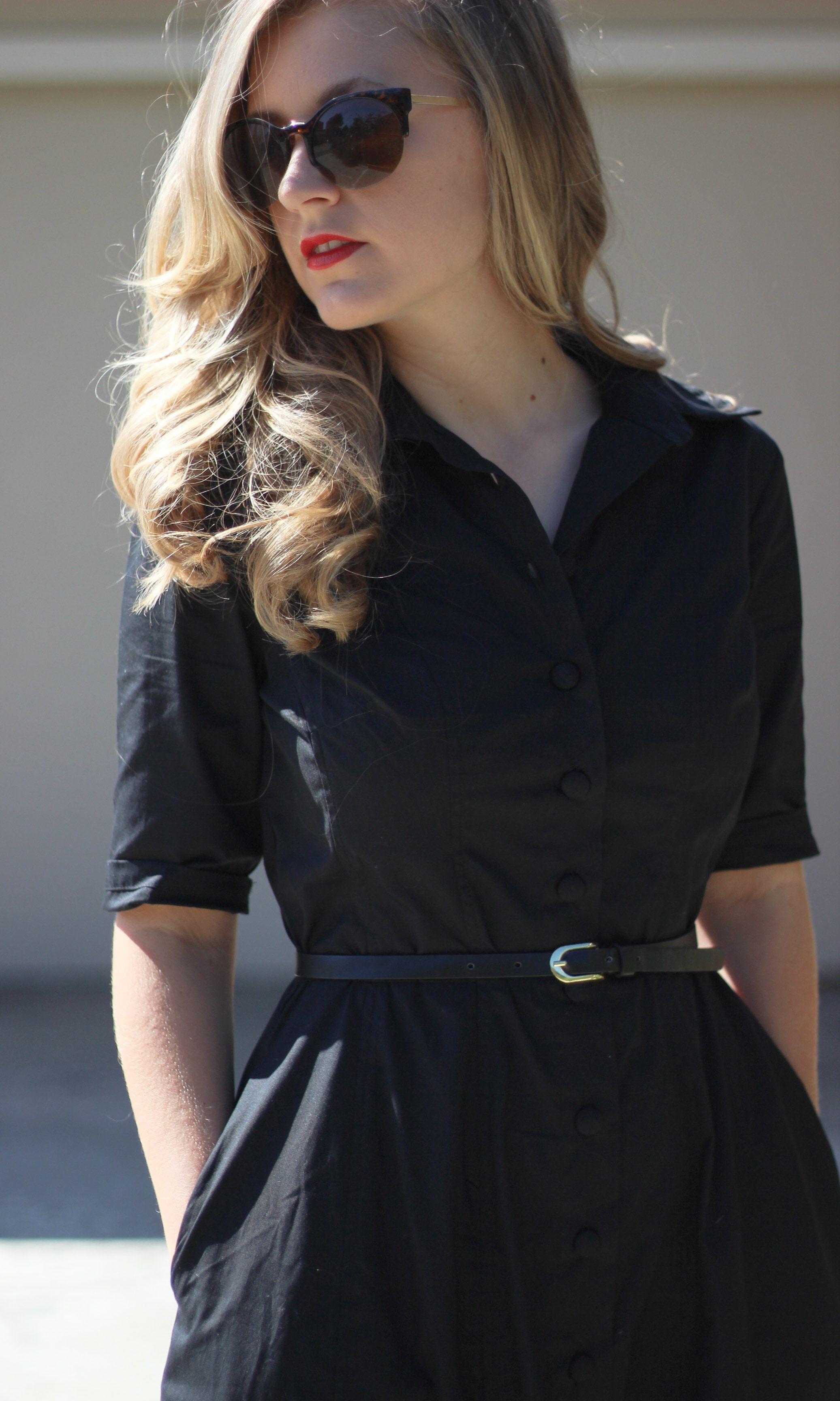 Like She Used to Wear on Beauty and the Beach - ft Black Custom Dress from eShakti