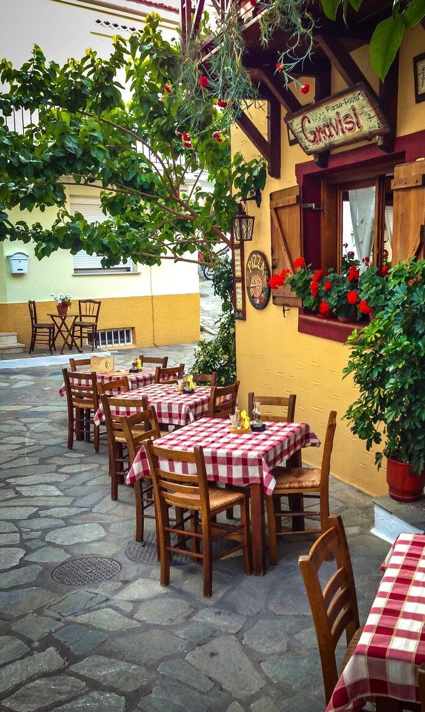Gravisi Pizzeria Skiathos Greece Italian Kitchen Design Italian Restaurant Decor Bistro Decor
