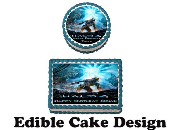 Edible Cake Images Halo : HALO 4 Birthday Party Cake Topper Decoration by ...