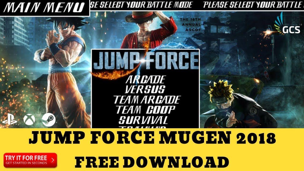 FREE DOWNLOAD] JUMP FORCE MUGEN 2018 (MUGEN GAME FOR PC