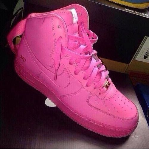 Pink Nike Air Force 1s High top