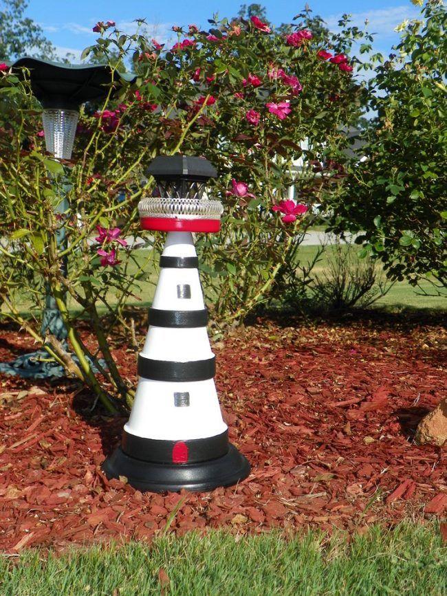 Maritime Gartengestaltung leuchtturm für den garten maritime gartendeko gute ideen