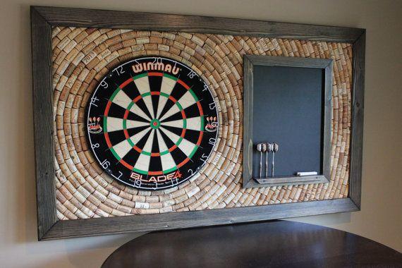 Wine Cork Dartboard Backer With Scoreboard And Von Olddogoriginals Dartscheibe Gameroom Ideen Spielzimmerdekoration