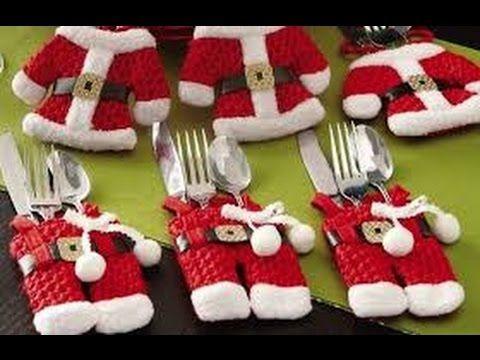 Manualidades para Navidad Porta Cubierto de Navidad - YouTube - manualidades para navidad