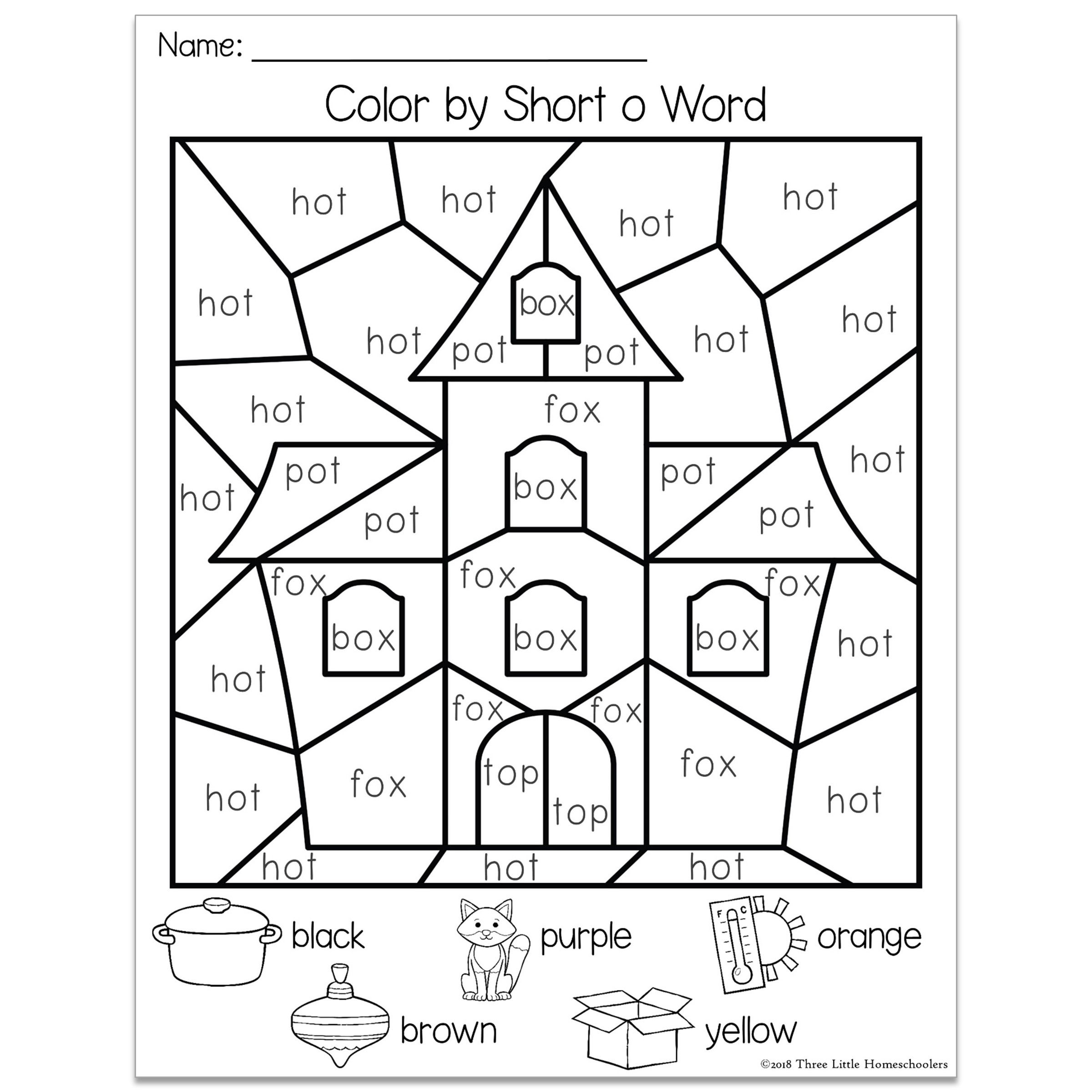 Halloween Color By Cvc Word With Images