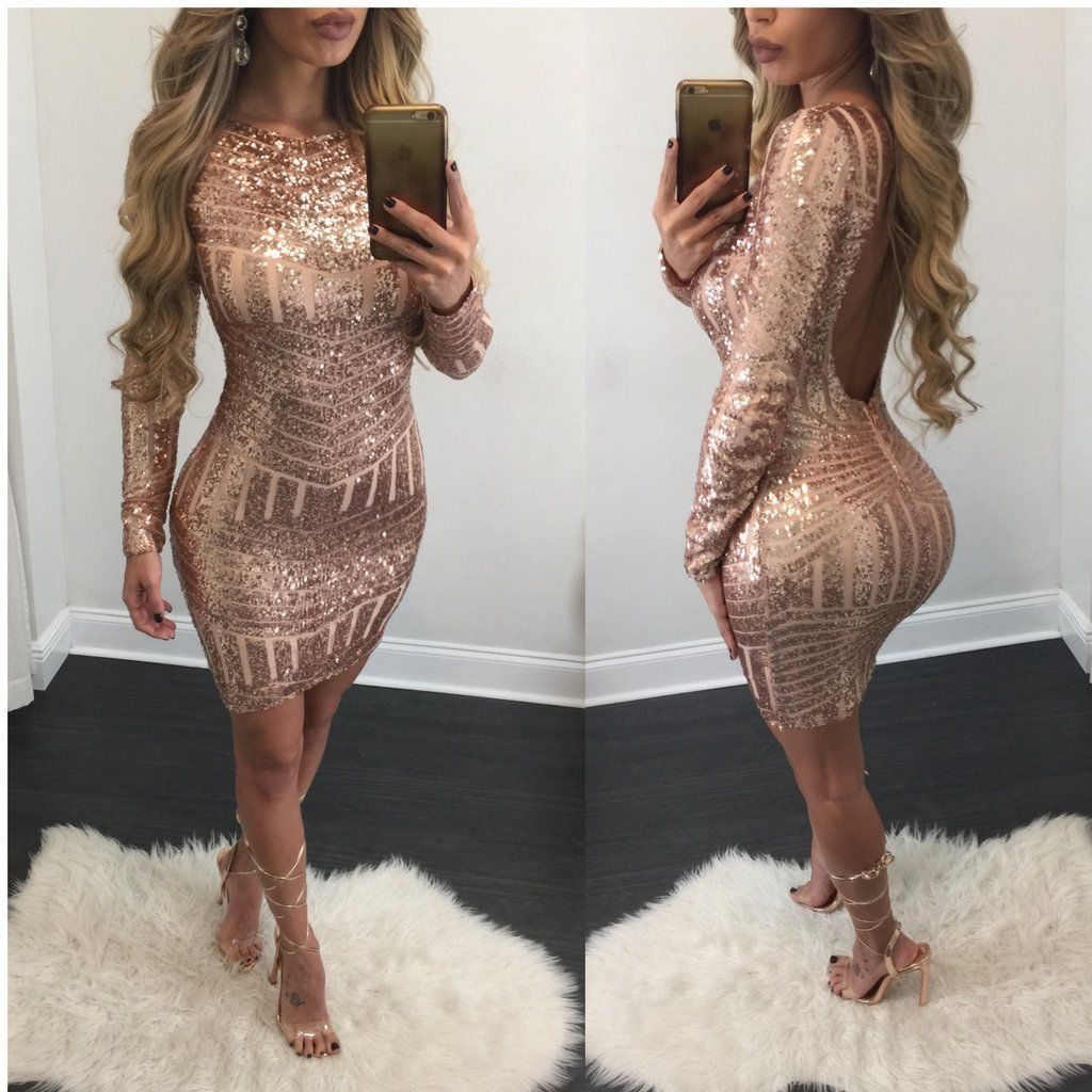 Nice Amazing Women\'s Bandage Bodycon Long Sleeve Club Party Cocktail ...