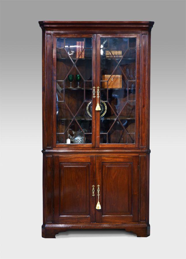 Antique Corner Cupboard Floor Standing
