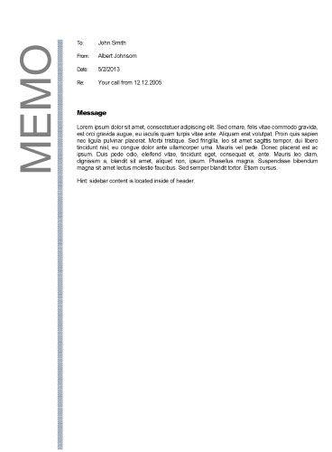 Business memo format Business Memos Pinterest Business memo - sample business memo