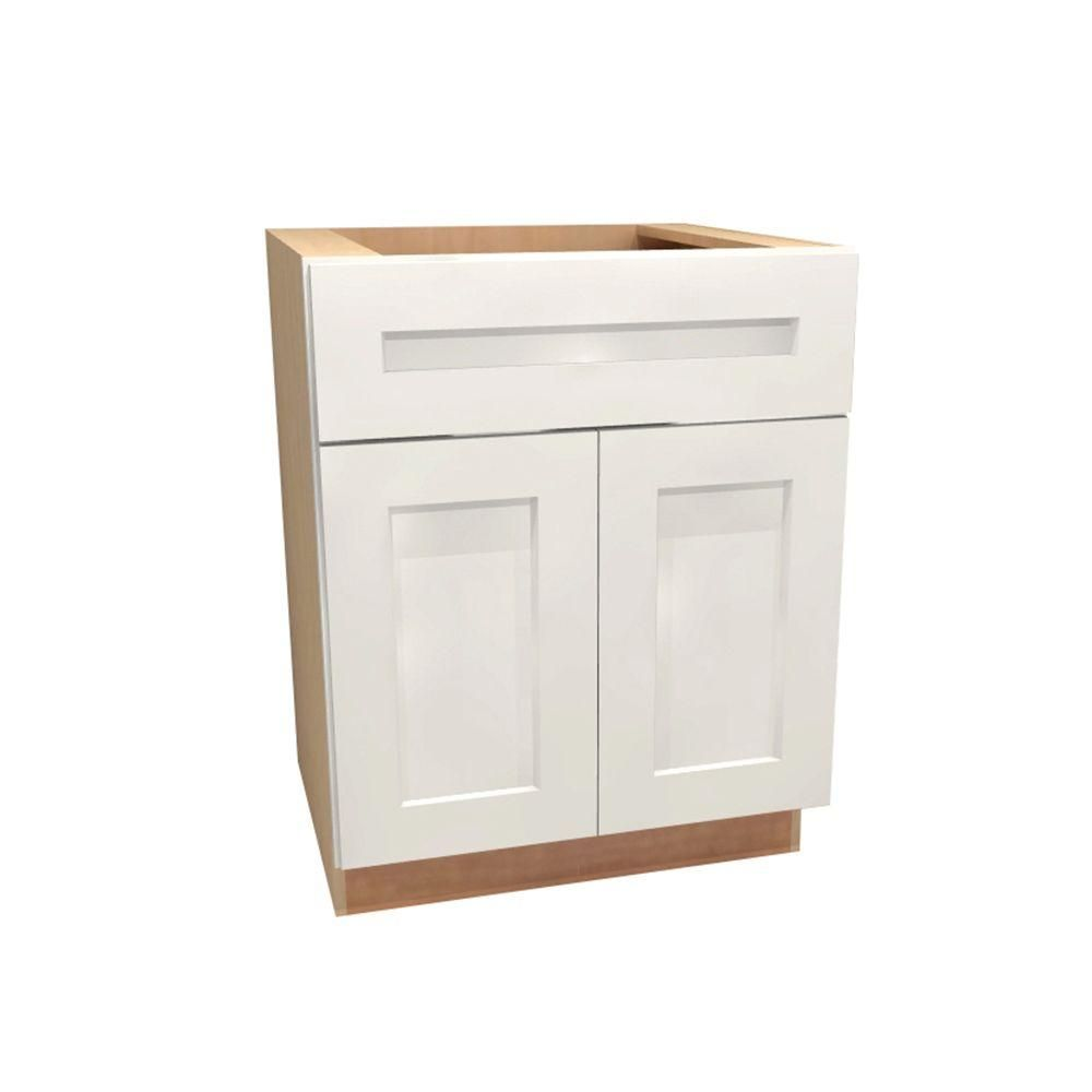 Assembled 27x34.5x24 in. Newport Base Cabinet with Double Doors and ...