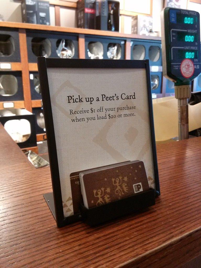 Peet's Coffee Tea Gift Card Display | Custom Metal Retail Displays ...
