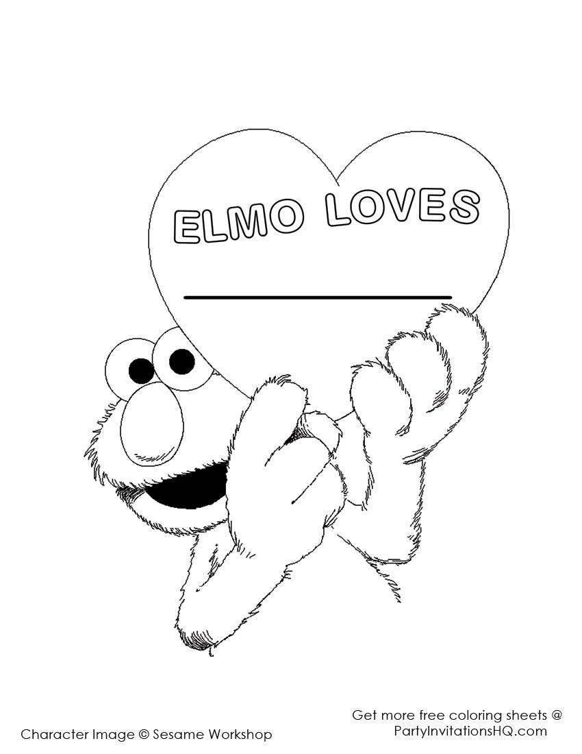 elmo coloring pages 2 Sesame Street Birthday Party Pinterest
