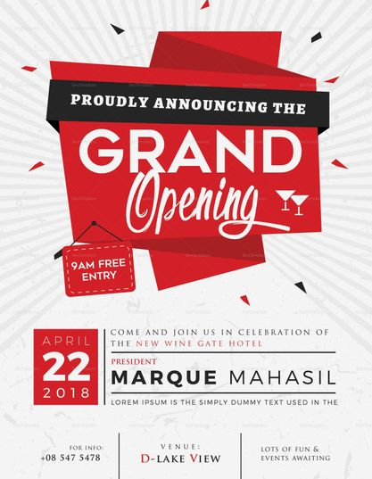 grand opening flyer template design flyer templates pinterest
