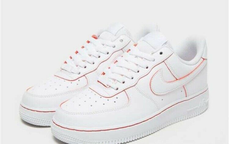 Nike Air Force 1 '07 LV8 - White All-Over With Red Detailing ...