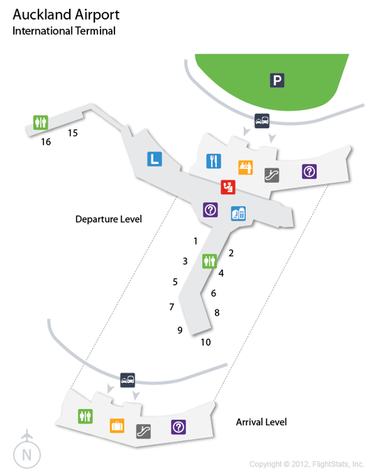 AKL Auckland Airport Terminal Map airports Pinterest Flight