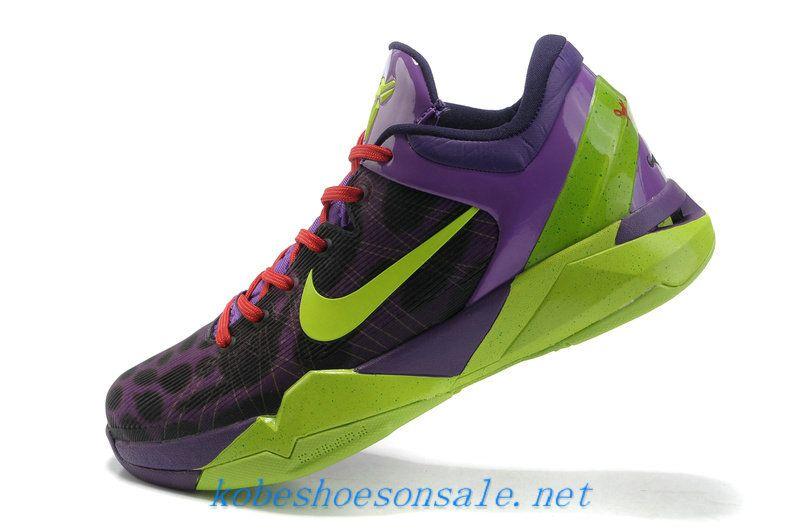 pretty nice 68108 ac4b2 Nike Zoom Kobe 7 Cheetah Electric Green Purple Gym Red 488371 400