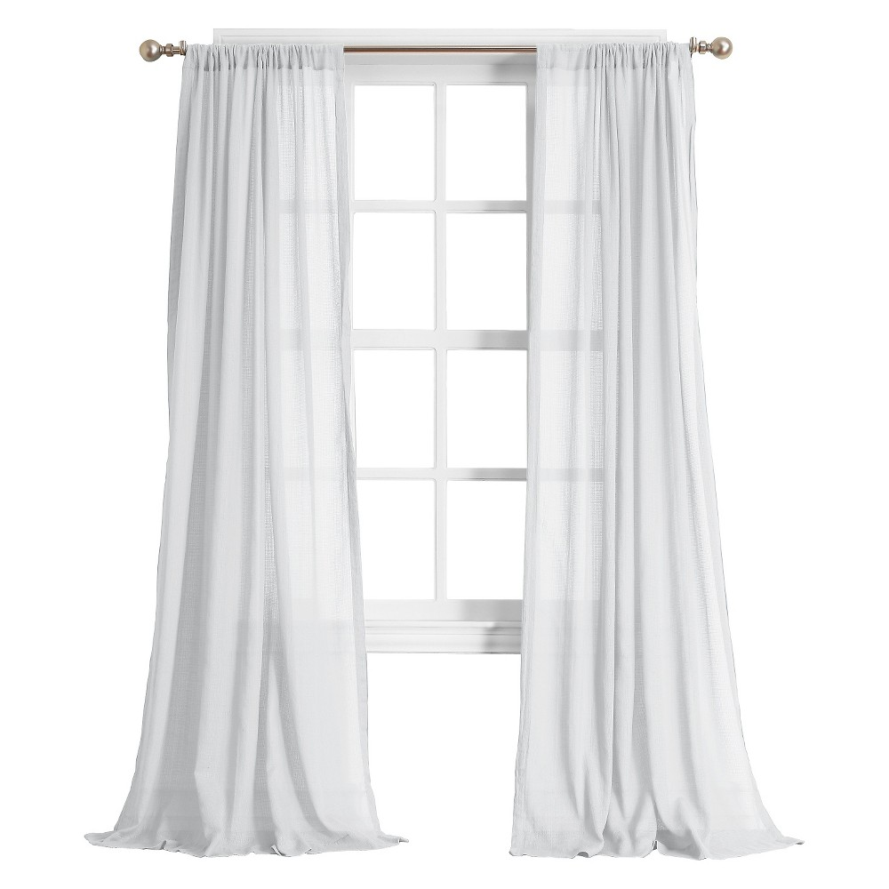 Harvey Cotton Gauze Texture Semi Sheer Curtain Panel White