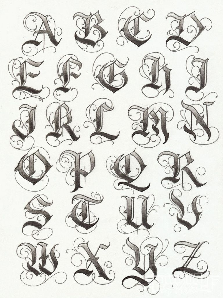Artistic Examples Of English Tattoo Fonts