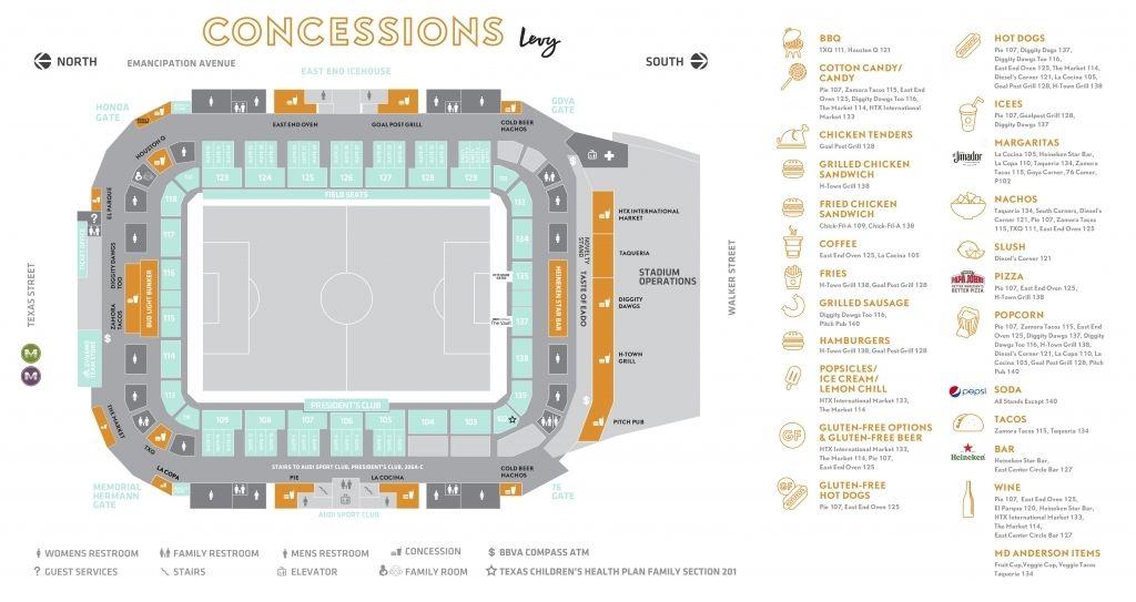 Bbva Comp Stadium Seating Chart